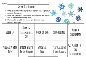 snow day bingo picture